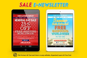 Sale E-Newsletter Template