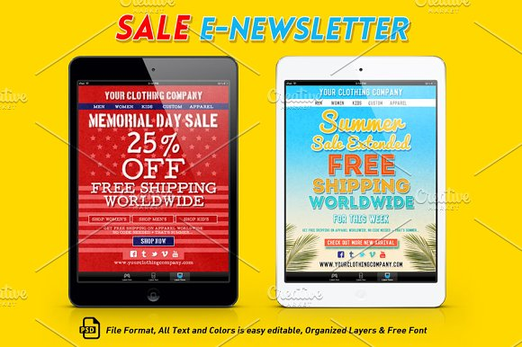 Sale e newsletter template email templates creative market sale e newsletter template email pronofoot35fo Gallery