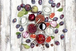 Fig marmalade plum jam red onion chu