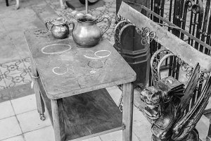 Vintage Objets in Black and White