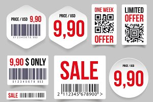 Sale Barcode label tag