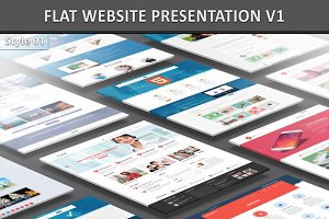 Flat Website Presentation V1
