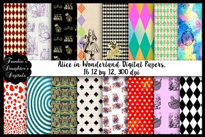 Alice in Wonderland Digital Papers