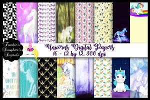 Unicorns Digital Papers