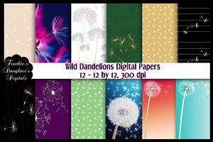 Wild Dandelions Digital Papers