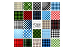 24 Scottish Tartan Patterns