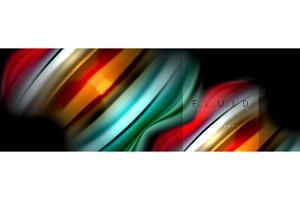 Rainbow fluid abstract shapes