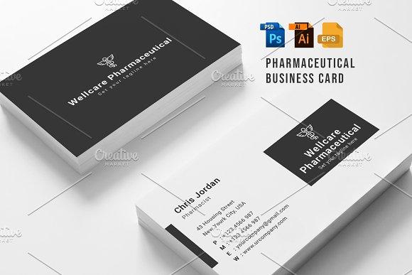 Pharmaceutical Business Card Business Card Templates Creative Market