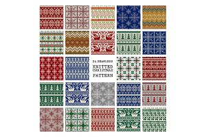 24 Knitted Christmas Patterns