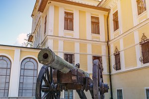 Old medieval cannon