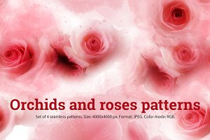 Orchids and roses patterns | JPEG