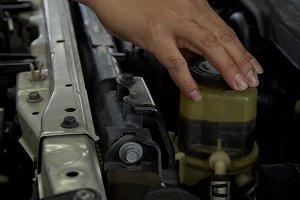 In auto repair shop