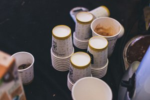 Paper cups for coffee