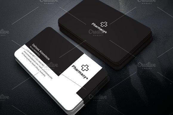 Pharmacy Business Card Business Card Templates Creative Market