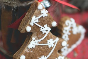 Christmas gingerbread tree
