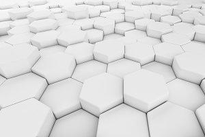 Digital data. Hexagon shape in struc