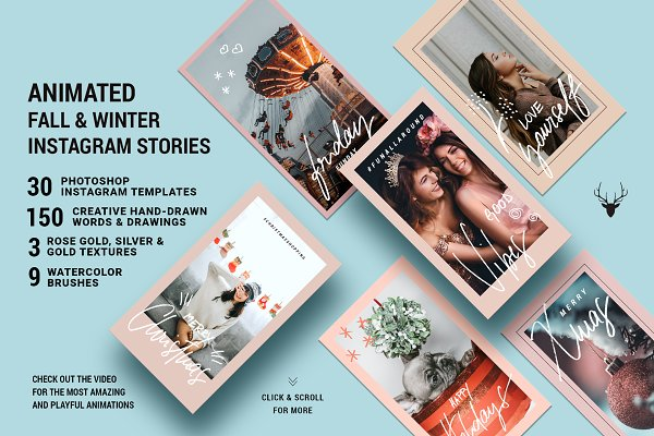 Instagram Templates - Fall & Winter ANIMATED Insta Stories