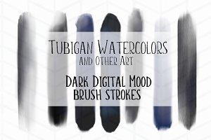 Dark Digital Mood Brush Strokes