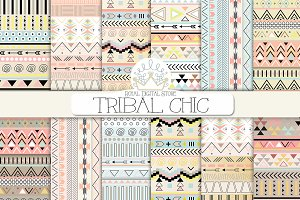 TRIBAL CHIC digital paper