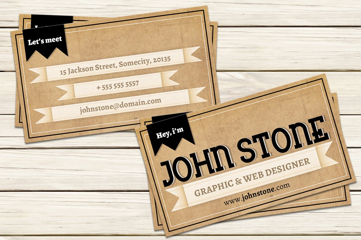 Vintage business card template business card templates creative vintage business card template business card templates creative market wajeb Images