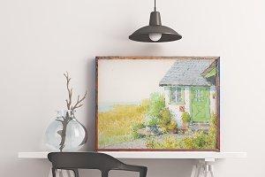 Home Countryside Garden Watercolour