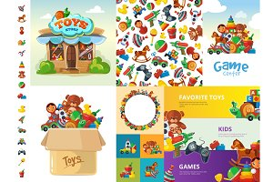 toys cartoon collection funny games