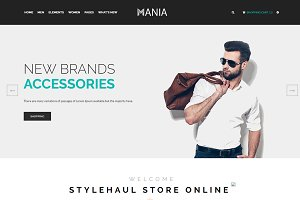 Mania - eCommerce Fashion Template