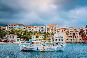 Unique majestic bay of Assos village