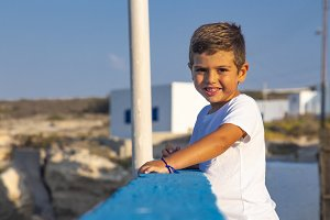 Portrait of an adorable kid
