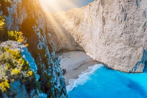 Navagio beach Zakynthos with