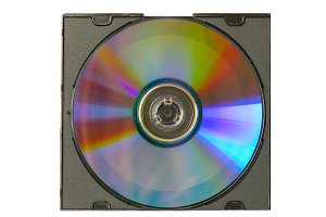 CD and case with insert isolated on