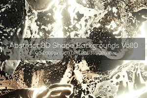 Abstract 3D Shape Backgrounds Vol10