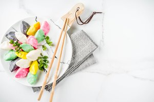 Korean rice cakes Songpyeon