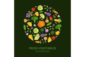 Natural foods illustration