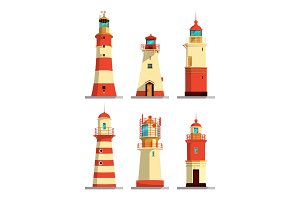 Lighthouses in different styles