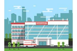 Health center, exterior of hospital