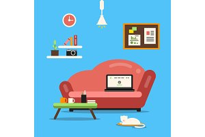 Home office or freelancer interior