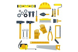 Construction tools set. Industrial