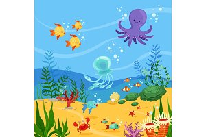 Underwater background illustration