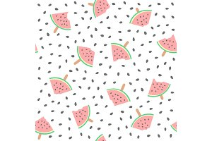 Seamless watermelons pattern. Vector