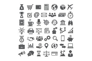 Business icons set. Icons for