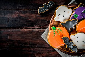 Traditional Halloween cookies