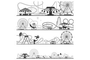 Set of horizontal amusement park