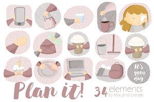 Plan it! Clipart Set
