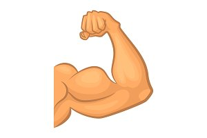 Strong biceps. Gym vector symbol