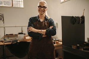 Portrait of confident senior female