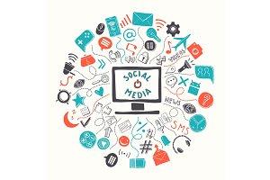 Concept illustration of social media