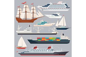 Sea transportation. Vector
