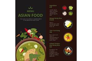 Design template of asian food menu