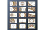 Banners or visit cards with mandala